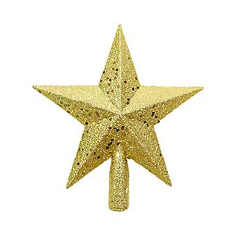 Christmas Tree Decoration Five-pointed Star Gold 14x15CM