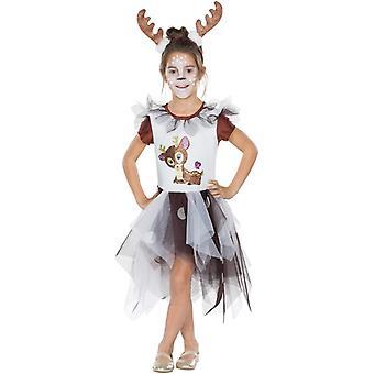 Kleines Rehkitz Kinder Tierkostüm Reh Kostüm Kleid Waldbewohner Tutu 2-teilig
