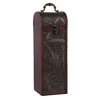 005 Antique Wooden Wine Bottle Gift Boxes Carriers Case