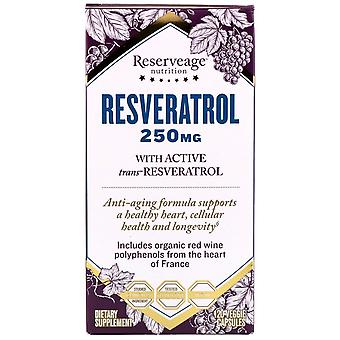 ReserveAge Nutrition, Resveratrol with Active Trans-Resveratrol, 250 mg, 120 Veg