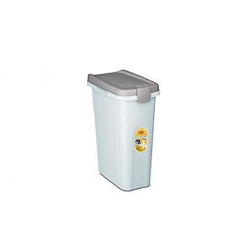 Stefanplast Pet Food Container Vit Kropp/Grå Lock - 25ltr