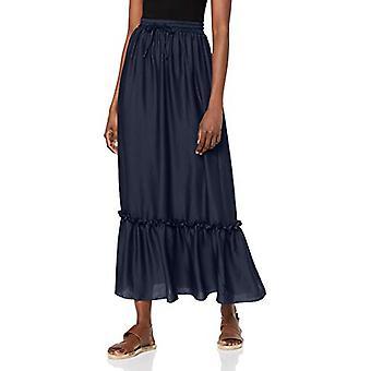 find. Women's Peplum Maxi Skirt, Blue (Navy blazer), EU L (US 10)
