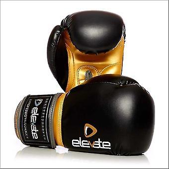 Elevate pu boxing gloves - black gold