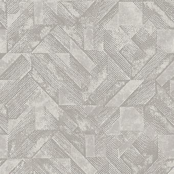 Huxley geometrische Tapete Grau Holden 65690