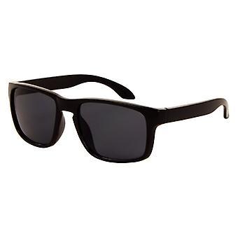 Gafas de sol Unisex negro mate con lente gris (AZ-110)