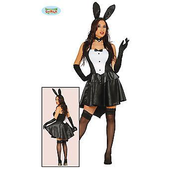 Vestido de senhora de vestido de coelho preta sexy Bunnygirl carnaval coelho