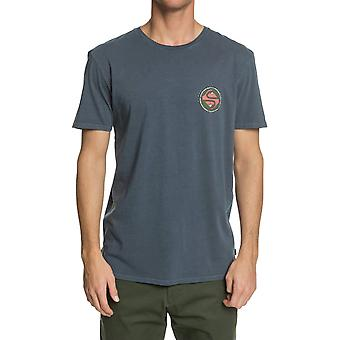 Quiksilver Black Coffee Short Sleeve T-Shirt in Blue Nights