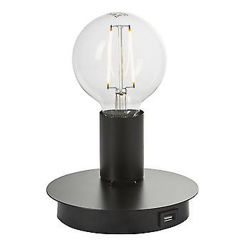 Endon Joshua - 1 luz de mesa ligera mate negro, E27