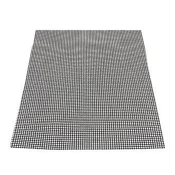 36x42.5cm Barbecu Grill Grid Mats Black