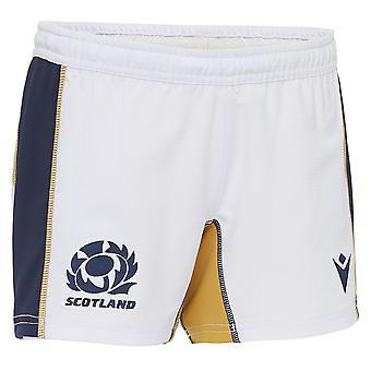 Macron Scotland Rugby Junior Home Replica Shorts | White | 2020/21