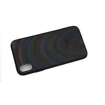 Mobiltaske til iPhone XR - Holografisk, sort