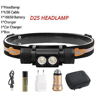 Xm-l2 Led Mini Headlamp High-power 1000lm, Headlight 18650 Rechargeable Head