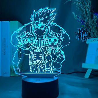Anime Naruto Uzumaki Lasten Led Night Light-Child Makuuhuone Sisustus Värikäs