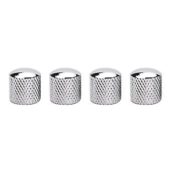 4PCS Metal Guitar Tone ou Volume Control Knobs Chrome