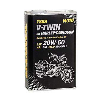 Mannol 1L 4-Temps Engine Oil V-TWIN pour Harley Davidson 20W-50