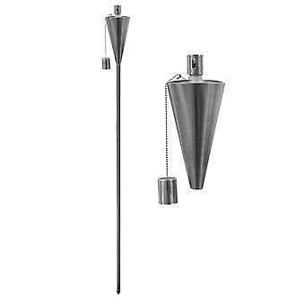 Trädgård Fire Torch - Olja / Paraffin Lantern - 1460mm Triangel Design