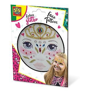 SES Creative Princess Fashion Temporary Glitter Face Tattoos Girl Multi-color