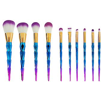 10 Pcs Cosmetic Brush For Professional And Beginners