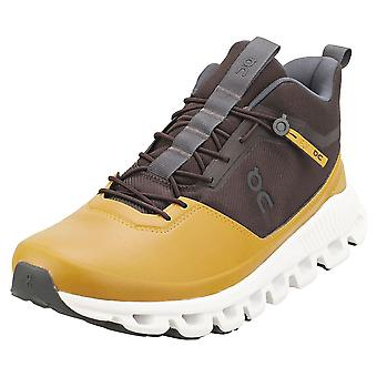 On Running Cloud Hi Mens Fashion Trainers in Umber Caramel