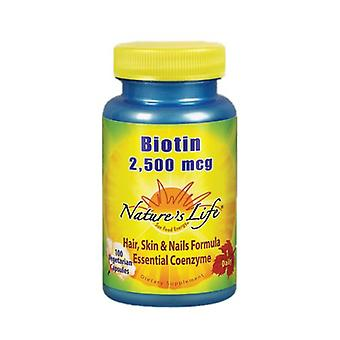 Nature's Life Biotin, 2500 mcg, 100 caps
