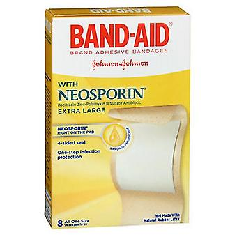 Band-Aid Adhesive Bandages Antibiotic Extra Large, 8 each