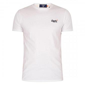 Superdry Orange Label Vintage Emb T-Shirt Branco 01C