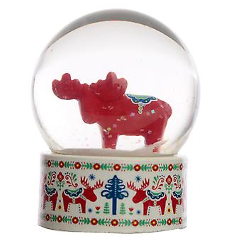 Collectable Scandi Moose Snow Globe Waterball