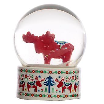 Sammlerstück Scandi Moose Schneekugel Wasserball
