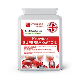 Superba Krill Oil 500mg 60 Softgels 1000mg Per Serving | Made In UK