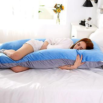 Soft Fleece Pregnant Pillow U Shape Lumbar Pillow -multi Function Side Protect
