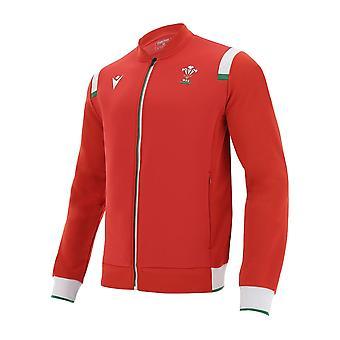 2020-2021 Wales Rugby Anthem Jacket (Rojo)