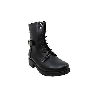Steve Madden Womens Rustle Cuir Fermé Toe Ankle Combat Boots