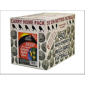 Dawn Chorus Fat Balls Carry Home Un-Netted x 50 10523