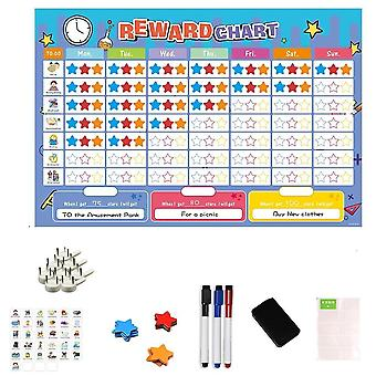 Magnetic Time Schedule Calendar, Hold Magnets White Board Toy