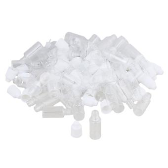 50PCS 10ml Transparent Squeezable Dropper Bottle With Long Thin Tip+ Cap