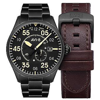 AVI-8 Spitfire Watch - Black/Black