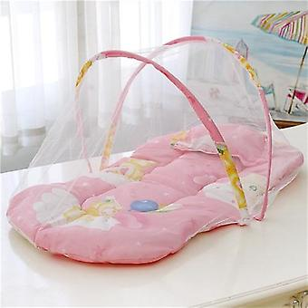 Portable Foldable Mosquito Net Polyester Newborn Sleep Travel Bed, Cotton Baby