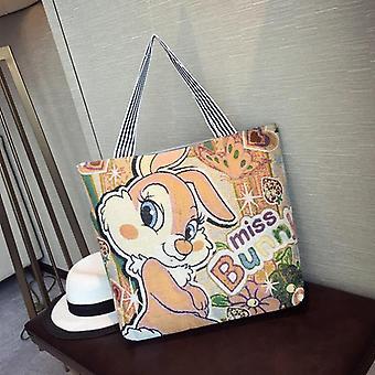 Disney Mickey Mouse Plüsch Geldbörse Tasche Schulter Cartoon große Kapazität Shopper