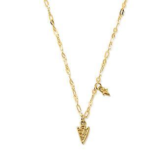 ChloBo GNLC4011 Gold Ton zarte Pfeil Kopf Halskette