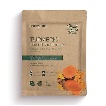 Beauty Pro Natura Infused Sheet Face Mask - Turmeric