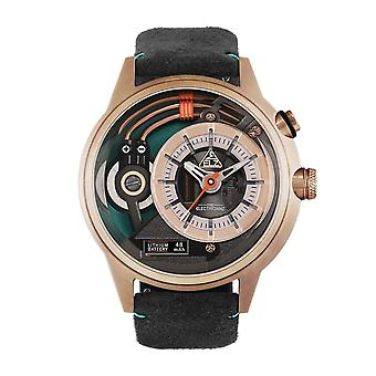 The Electricianz ZZ-A3C/04 The CaZino Grey & Rose Gold Leather Watch