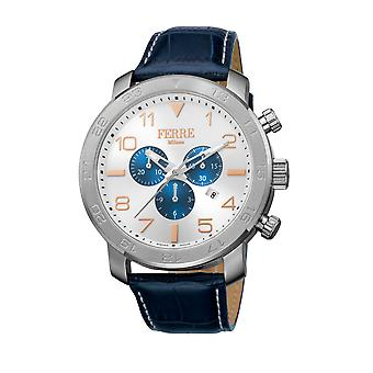 Ferre Milano FM1G061L0021  watch, blue leather strap, silver dial