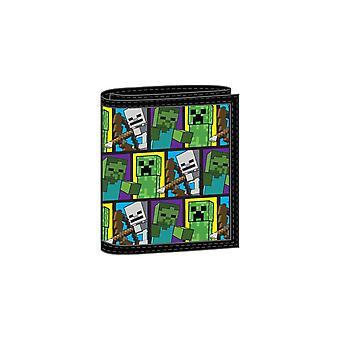 Minecraft Character Kids Tri Fold Wallet