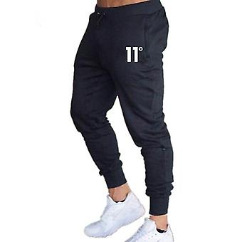 Solid Casual Mens Slim Fit Träningsoverall, Sport Fast Gym Bomull Skinny Joggers