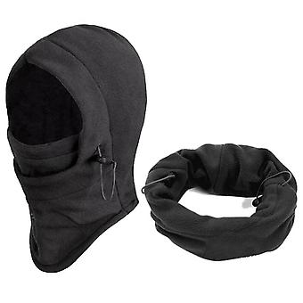 Outdoor winddichte warme hoeden en fleece gezichtsmaskers beschermd oor skimasker