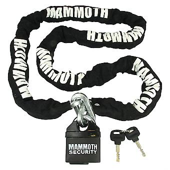 Mammoth Motorcycle Security Padlock Lock and 10 mm Square Section Chain 1 2m