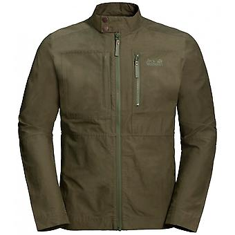 Jack Wolfskin Port Lincoln Mens Zip Up Jacket Khaki 1305911 5052