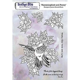 Selos de borracha IndigoBlu Hummingbird e Peony A5
