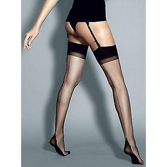 Κάλτσες λουριών calze-roberta-μαύρο Μέγεθος: S/M