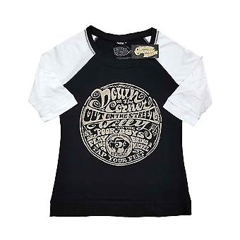 Creedence Clearwater Revival T Shirt Down On The Corner Official Raglan Womens